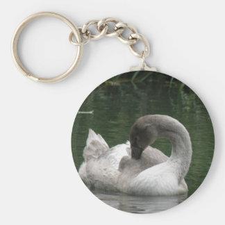 Sleepy Swan Keychain