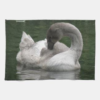 Sleepy Swan Kitchen Towel