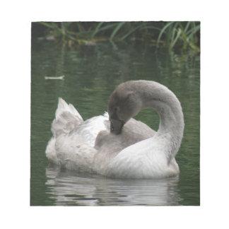 Sleepy Swan Notepad