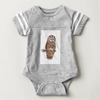 Sleepy Tawny owl Baby Bodysuit