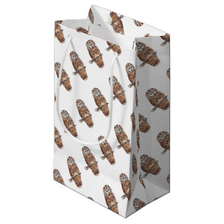 Sleepy Tawny owl Small Gift Bag