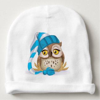 Sleepy Time Owl BABY BEANIE
