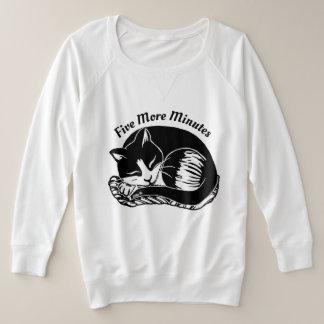 Sleepy Tuxedo Cat Women's Plus-Size Sweatshirt