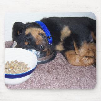 sleepyhead rottweiler. mouse mat