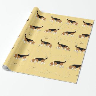 Sleepytown Beagles Wrapping Paper (Yellow BG)