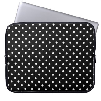 Sleeve Laptop Hot Black Polka Dot