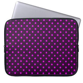 Sleeve Laptop Hot Pink and Violet Polka Dot Computer Sleeves