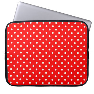Sleeve Laptop Hot Red Polka Dot