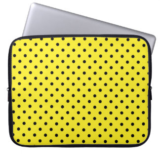 Sleeve Laptop Hot Yellow Polka Dot