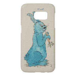 "Sleeve Samsung S7, motive hare ""Iff waf? """