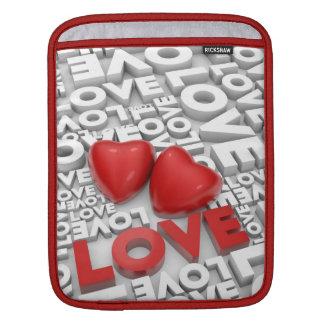 Sleeve with love word iPad sleeves