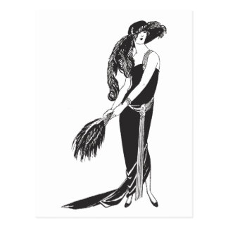 Sleeveless Deco Fashion Postcard