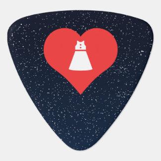 Sleeveless Dresses Symbol Guitar Pick