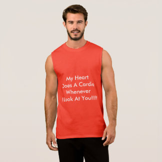 Sleeveless mens t-shirt suitable for gym or sports