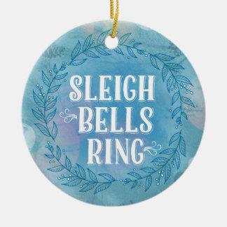 Sleigh Bells Ring- Blue Ornament