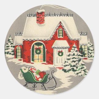 Sleigh Bells | Round Stickers