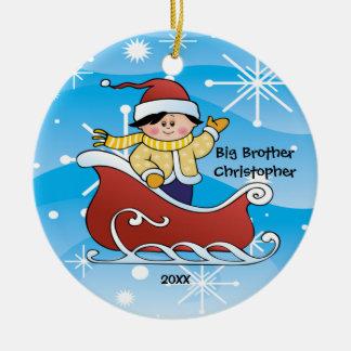 Sleigh Big Brother Christmas Ornament