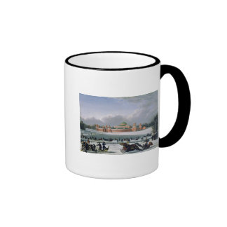 Sleigh Race at the Petrovsky Park in Moscow Ringer Mug
