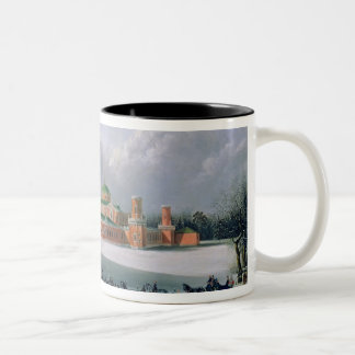 Sleigh Race at the Petrovsky Park in Moscow Two-Tone Mug