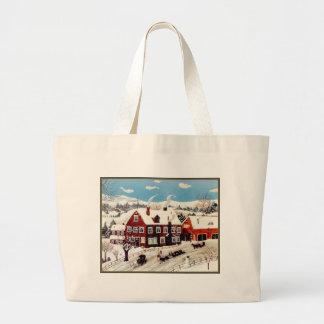 Sleigh Ride Jumbo Tote Bag