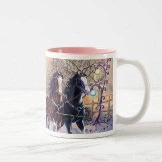Sleigh Ride Two-Tone Coffee Mug