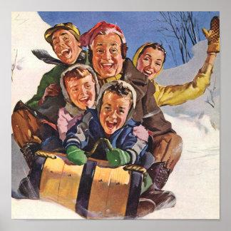 Sleigh Snow Fun Christmas Poster