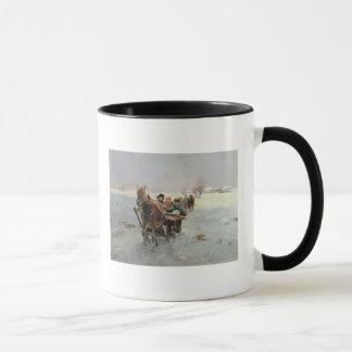 Sleighs in a Winter Landscape Mug
