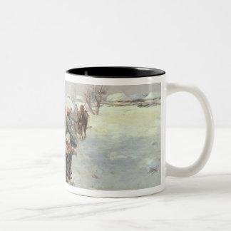 Sleighs in a Winter Landscape Coffee Mugs
