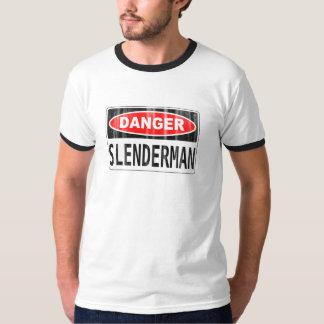 Slender Man Danger Signboard T-shirt