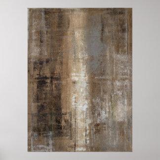 'Slender' Neutral Abstract Art Poster Print