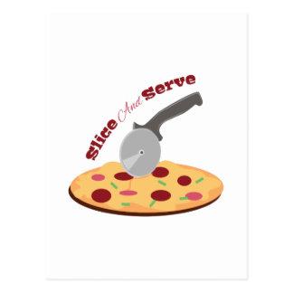 Slice And Serve Postcard