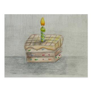 slice cake postcard