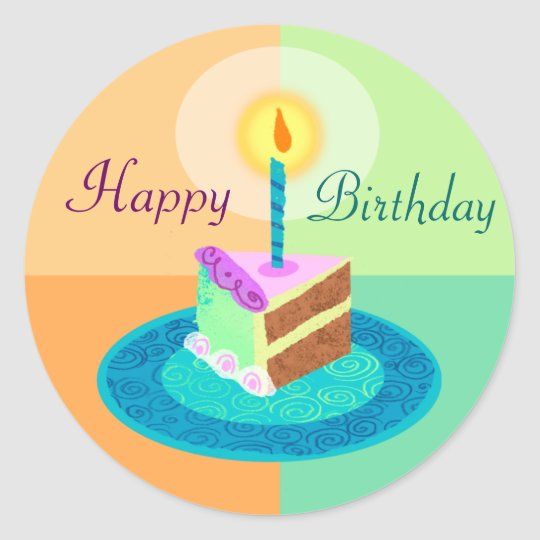 Slice of Birthday Cake Sticker