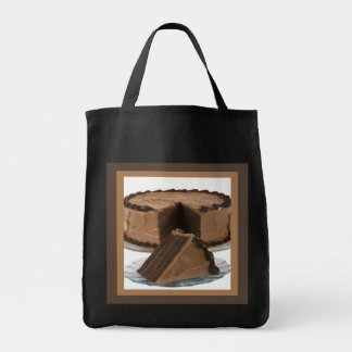 Slice of Chocolate Cake Tote Bag