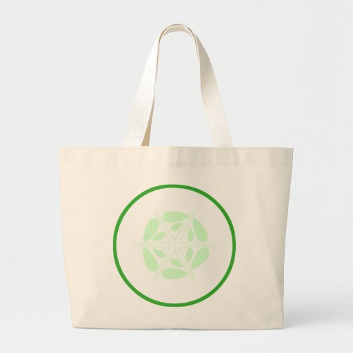 Slice of Cucumber. Green and White. Canvas Bag