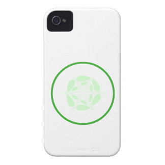 Slice of Cucumber Green and White iPhone 4 Covers