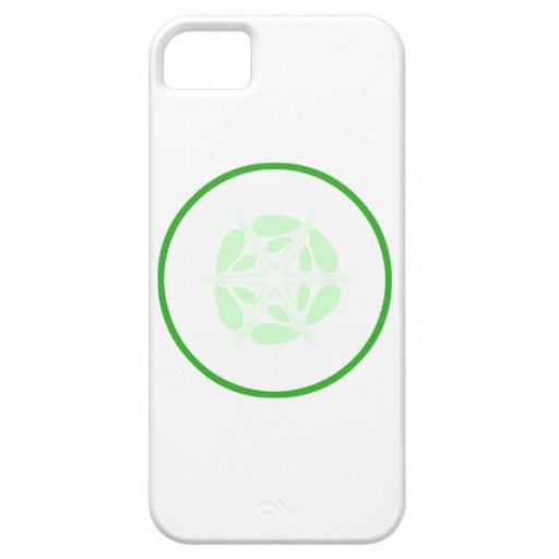 Slice of Cucumber. Green and White. iPhone 5 Case
