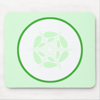 Slice of Cucumber. Green and White. Mousepad