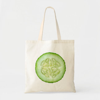 Slice of cucumber budget tote bag