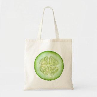 Slice of cucumber tote bag