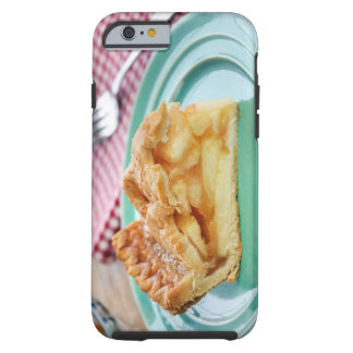 Slice of fresh baked pie on plate tough iPhone 6 case