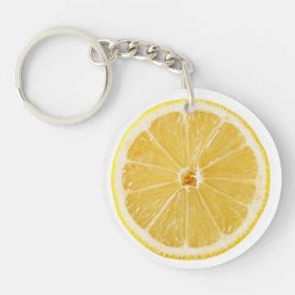 Slice Of Fresh Lemon Key Ring