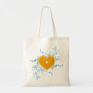 Slice of Heart Shaped Orange - Budget Tote