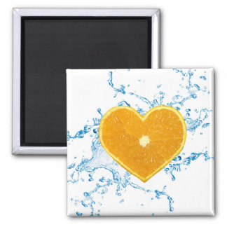 Slice of Heart Shaped Orange - Magnet
