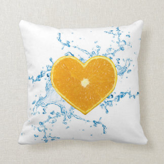 Slice of Heart Shaped Orange - Pillow