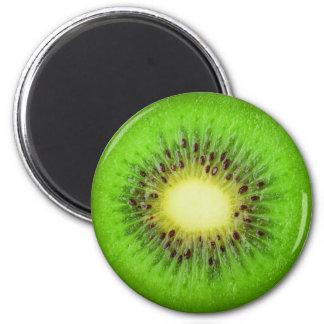 Slice of kiwi 6 cm round magnet