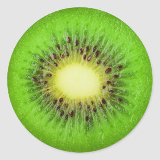 Slice of kiwi classic round sticker