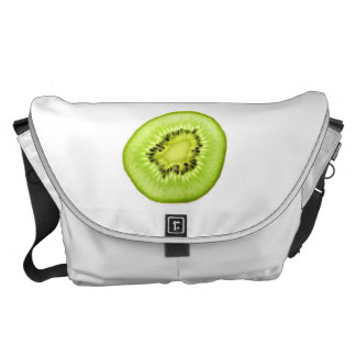 Slice of Kiwi Fruit. Messenger Bag. Commuter Bag