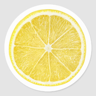 Slice of lemon classic round sticker