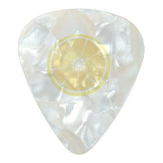 slice of lemon pearl celluloid guitar pick